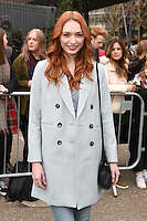 Eleanor Tomlinson<br /> arrives for the Topshop Unique AW17 show as part of London Fashion Week AW17 at Tate Modern, London.<br /> <br /> <br /> &copy;Ash Knotek  D3232  19/02/2017