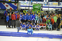 SCHAATSEN: HEERENVEEN: IJsstadion Thialf, 17-01-2015, Marathonschaatsen, KPN Marathon Cup 14, Topdivisie Dames, afscheid Maria Sterk (#41), ©foto Martin de Jong