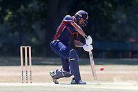 Aron Nijjar hits 4 runs for Wanstead during Wanstead and Snaresbrook CC vs Hornchurch CC, Shepherd Neame Essex League Cricket at Overton Drive on 30th June 2018
