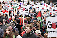 Gaza Demo and Battle by the South Keningson Park Garden Gates