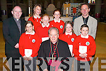 Pupils from Derryquay National School, Curraheen, who were confirmed on Friday by Bishop Bill Murphy in St John's Church, Tralee. Also with the pupils was Ed O'Brien (Principal) and Fr Michael Moynihan. Pupils: Oonagh O'Sullivan, Rachel Byrne, Mary Appleby, Aine Daly, Molly Twomey and Jordan Keane..