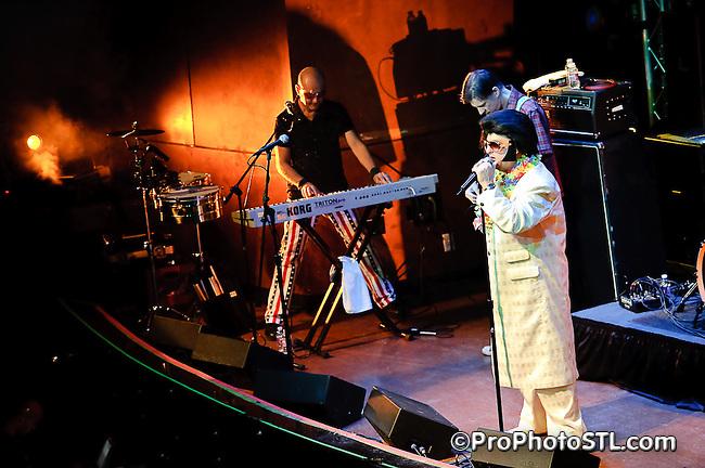 Dread Zeppelin in concert at Voodoo Lounge of Harrah's Casino in St. Louis on Jan 8, 2010.