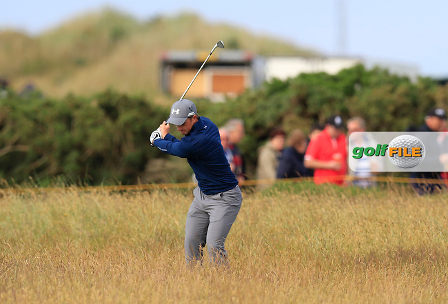 Paul DUNNE (AM)(IRL) in action on the 13th hole during Sunday's Round 3 of the 144th Open Championship, St Andrews Old Course, St Andrews, Fife, Scotland. 19/07/2015.<br /> Picture Eoin Clarke, www.golffile.ie