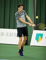 Rotterdam, Netherlands, Januari 28, 2017, ABNAMROWTT, Supermatch, Nigel Visser/Bob Hessels<br /> Photo: Tennisimages/Henk Koster