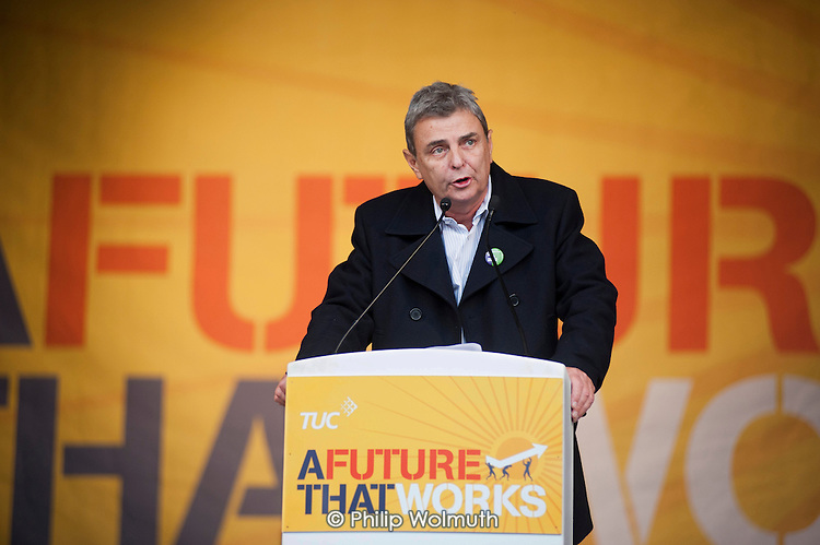 Dave Ptrentis, Unison. A Future that Works: TUC march and rally against austerity, London.