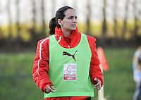 U19 Belgian Red Flames - Austria :<br /> <br /> Coach Oostenrijk : Irene Fuhrmann<br /> <br /> foto Dirk Vuylsteke / Nikonpro.be