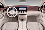 Stock photo of straight dashboard view of a 2018 Mercedes Benz E Class 25th Anniversary 2 Door Convertible