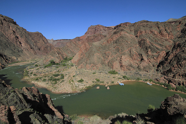 River rafts along the Colorado River and Phantom Ranch, Grand Canyon, Arizona. . John offers private photo tours in Grand Canyon National Park and throughout Arizona, Utah and Colorado. Year-round.