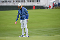 Tommy Fleetwood (ENG) reacts to his long putt on 6 during round 2 of the 2019 US Open, Pebble Beach Golf Links, Monterrey, California, USA. 6/14/2019.<br /> Picture: Golffile | Ken Murray<br /> <br /> All photo usage must carry mandatory copyright credit (© Golffile | Ken Murray)