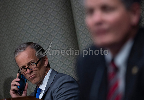 "United States Senator John Thune (Republican of South Dakota) looks on during a US Senate Finance Committee hearing on ""COVID-19 and Beyond: Oversight of the FDA's Foreign Drug Manufacturing Inspection Process"" at the US Capitol in Washington, DC on June 2, 2020.<br /> Credit: Andrew Caballero-Reynolds / Pool via CNP/AdMedia"