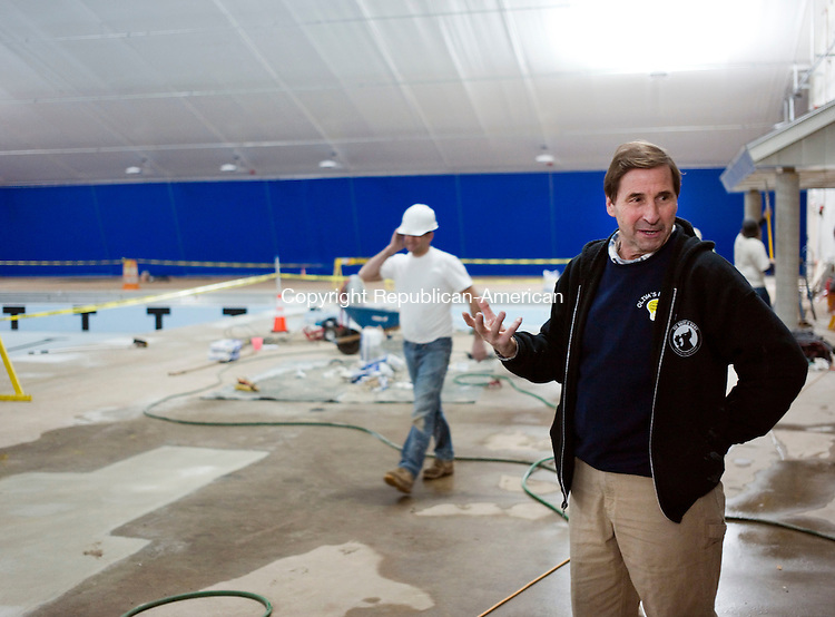 Cheshire, CT- 15 January 2016-011516CM02-  Mark Nash, Public Building Commission Chairman talks about the newly renovated Cheshire Community Pool on Friday. The facility is scheduled to open to the public on Feb. 8. Christopher Massa Republican-American