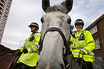 Pix: Shaun Flannery/shaunflanneryphotography.com...COPYRIGHT PICTURE>>SHAUN FLANNERY>01302-570814>>07778315553>>..16th October 2007…………….South Yorkshire Police mounted officers on patrol.