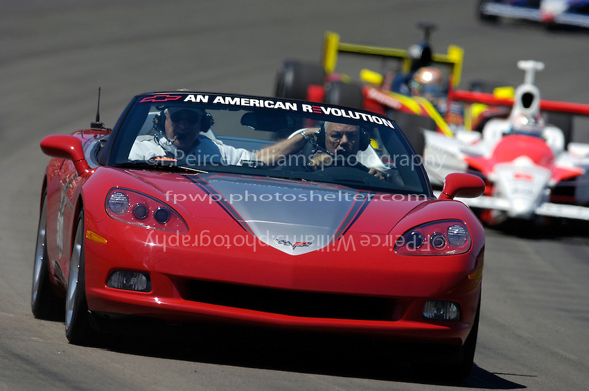 General Colin Powell paces the field in the Corvette Pace Car.