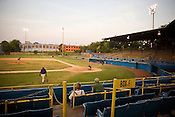 The Durham Athletic Park, twenty years after the major motion picture production of Bull Durham.