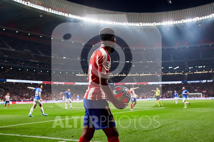 Thomas Lemar of Atletico de Madrid during the La Liga match between Atletico de Madrid and Athletic Club de Bilbao at Wanda Metropolitano Stadium in Madrid, Spain. October 26, 2019. (ALTERPHOTOS/A. Perez Meca)