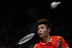 Shi Yuqi (CHN), <br /> AUGUST 22, 2018 - Badminton : Men's Team Final match between China - Indonesia at Gelora Bung Karno Istora during the 2018 Jakarta Palembang Asian Games in Jakarta, Indonesia. <br /> (Photo by MATSUO.K/AFLO SPORT)
