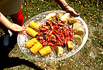 Georgia: Coast, local food, corn and crawdads.  Photo #: gacoas102..Photo copyright Lee Foster, 510/549-2202, lee@fostertravel.com, www.fostertravel.com