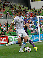 Erik  Paartalau  during the  A-League soccer match between Melbourne City FC and Perth Glory at AAMI Park on February 22, 2015 in Melbourne, Australia.