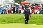 CROMWELL, CT. 21 June 2019-062119 - PGA Tour player Phil Mickelson watches his chip shot get very close to the hole on par 4 ninth hole, his 18th for the day, during the second round of the Travelers Championship at the TPC River Highlands in Cromwell on Thursday. Phil won't be playing this weekend since he failed to make the cut, shooting 3 over for the tournament. Bill Shettle Republican-American