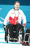 Pyeongchang, Korea, 17/3/2018-Jaime Anseeuw competes in the bronze medal game of wheelchair curling during the 2018 Paralympic Games. Photo: Scott Grant/Canadian Paralympic Committee.