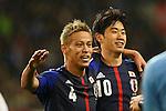 (L to R) Keisuke Honda, Shinji Kagawa (JPN), .FEBRUARY 6, 2013 - Football / Soccer : .KIRIN Challenge Cup 2013 Match between Japan 3-0 Latvia .at Home's Stadium Kobe in Hyogo, Japan. .(Photo by Akihiro Sugimoto/AFLO SPORT)