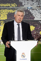 Real Madrid's new coach Carlo Ancelotti during his official presentation. June 26, 2013. (ALTERPHOTOS/Acero) .<br />