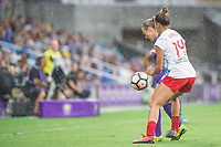 Orlando, FL - Saturday July 01, 2017: Rachel Hill, Sarah Gorden during a regular season National Women's Soccer League (NWSL) match between the Orlando Pride and the Chicago Red Stars at Orlando City Stadium.