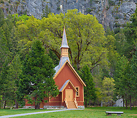 Yosemite National Park, CA<br /> Yosemite Valley Chapel (1879), the oldest structure in Yosemite Valley
