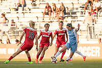 Boyds, MD - Saturday June 03, 2017:  Kristie Mewis, Mallory Pugh, Morgan Brian during a regular season National Women's Soccer League (NWSL) match between the Washington Spirit and the Houston Dash at Maureen Hendricks Field, Maryland SoccerPlex