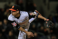 Pitcher Relevo Jason Urquidez .Naranjeros gana 6 carreras por 2 de Tomateros , durante el tercer juego de la Serie entre Tomateros de Culiacán vs Naranjeros de Hermosillo en el Estadio Sonora. Segunda vuelta de la Liga Mexicana del Pacifico (LMP) **26Dici2015.<br /> **CreditoFoto:LuisGutierrez<br /> **<br /> Shares during the third game of the series between Culiacan Tomateros vs Orange sellers of Hermosillo in Sonora Stadium. Second round of the Mexican Pacific League (PML)