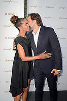 LOS ANGELES - July 13:  Halle Berry, Javier Bardem at the Final Pitch Event from Chivas The Venture at the LADC Studios on July 13, 2017 in Los Angeles, CA