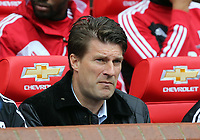 Pictured: Michael Laudrup. <br /> Sunday 12 May 2013<br /> Re: Barclay's Premier League, Manchester City FC v Swansea City FC at the Old Trafford Stadium, Manchester.