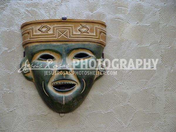 Sinaloa, Mexico. Mask in a bus station