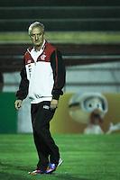 ATENÇÃO EDITOR: FOTO EMBARGADA PARA VEÍCULOS INTERNACIONAIS SÃO PAULO,SP,17 OUTUBRO 2012 - CAMPEONATO BRASILEIRO - PORTUGUESA x FLAMENGO - Dorival Junior tecnico do Flamengo durante partida Portuguesa x Flamengo válido pela 31º rodada do Campeonato Brasileiro no Estádio Doutor Osvaldo Teixeira Duarte (Canindé), na região norte da capital paulista na noite desta quarta feira  (17).(FOTO: ALE VIANNA -BRAZIL PHOTO PRESS).