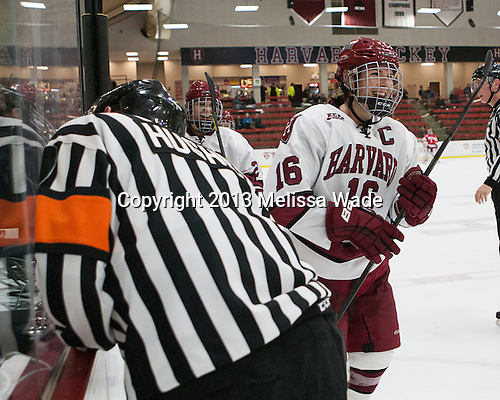 Marissa Gedman (Harvard - 16) - The Harvard University Crimson defeated the visiting Boston University Terriers 3-1 on Friday, November 22, 2013, at Bright-Landry Hockey Center in Cambridge, Massachusetts.