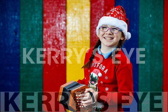 Megan Gillespie a pupil at Scoil Mhuire, Killorglin who is performing on the Late Late toy show.