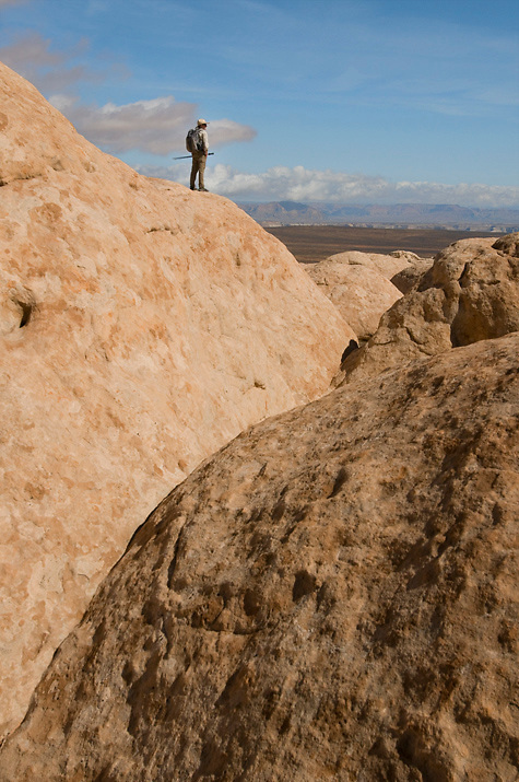 """On top of the """"cauliflower rocks"""" in Paria Plateau, AZ. What a wonderful place to explore!"""