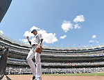 Masahiro Tanaka (Yankees), JULY 23, 2015 - MLB : New York Yankees starting pitcher Masahiro Tanaka returns to his side's dugout in the third inning during a baseball game against the Baltimore Orioles at Yankee Stadium in New York, United States. (Photo by AFLO)