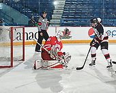 Sudbury, ON - April 27 2018 - Game 13 - Moncton Flyers vs Notre Dame Hounds at the 2018 TELUS Cup at the Sudbury Community Arena in Sudbury, Ontario, Canada (Photo: Matthew Murnaghan/Hockey Canada)
