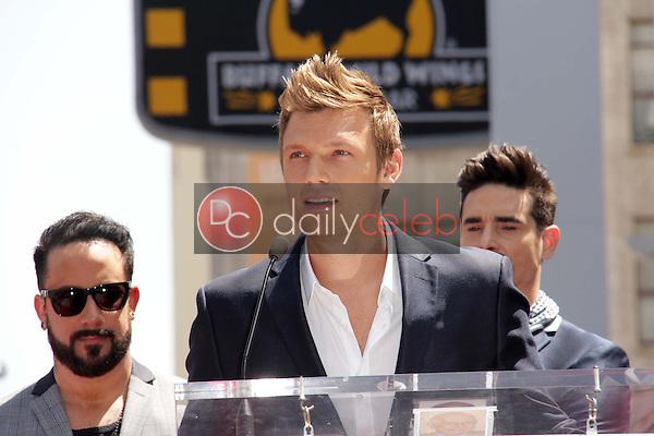 "AJ McLean, Nick Carter, Kevin Richardson<br /> at the ""Backstreet Boys"" Star on the Walk of Fame, Hollywood, CA 04-22-13<br /> David Edwards/Dailyceleb.com 818-249-4998"