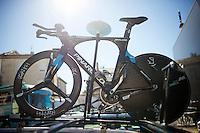 The SKY TT-machine by Pinarello<br /> <br /> stage 13 (ITT): Bourg-Saint-Andeol - Le Caverne de Pont (37.5km)<br /> 103rd Tour de France 2016