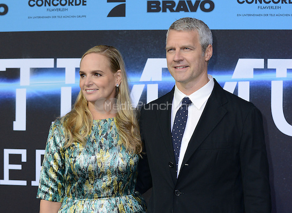 Diana Kellogg and Neil Burger attending the &quot;Divergent&quot; Premiere at the CineStar IMAX, Sony Center, Potsdamer Platz, Berlin, Germany, 1.4.2014. <br /> Photo by Janne Tervonen/insight media /MediaPunch ***FOR USA ONLY***