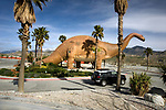 Drive- Thru roadside dinosaur display at Cabazon near Palm Springs