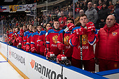 Nov 8, 2019 Game 22 - Team USA vs Team Russia in the Gold medal game during the 2019 World Under-17 Hockey Challenge at the Canalta Centre in Medicine Hat, Alberta, Canada. <br /> (Photo by Chad Goddard/Hockey Canada Images)