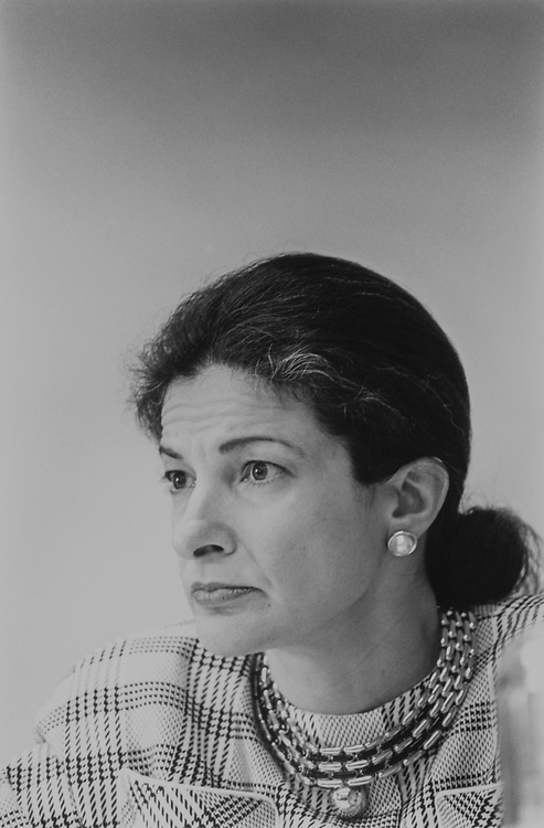 Close-up of Rep. Olympia Snowe, R-Maine, in May 1992. (Photo by Maureen Keating/CQ Roll Call via Getty Images)