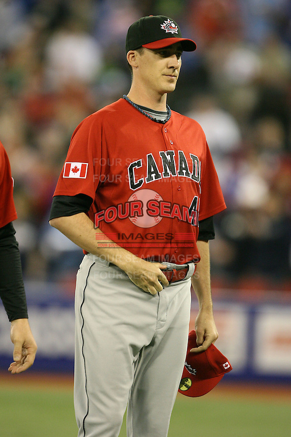 March 7, 2009:  Pitcher Scott Richmond (48) of Canada during the first round of the World Baseball Classic at the Rogers Centre in Toronto, Ontario, Canada.  Team USA defeated Canada 6-5 in both teams opening game of the tournament.  Photo by:  Mike Janes/Four Seam Images