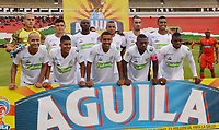 TUNJA- COLOMBIA, 10-03-2019: Formación de Jagures de Córdoba ante Patriotas  durante partido por la fecha 9 de la Liga Águila I  2019 jugado en el estadio La Independencia de la ciudad de Tunja. / Team of Jaguares of Cordoba agaisnt of  Patriotas Boyaca   during the match for the date 9 of the Liga Aguila I 2019 played at the La Independencia stadium in Tunja city. Photo: VizzorImage / José Miguel Palencia / Contribuidor