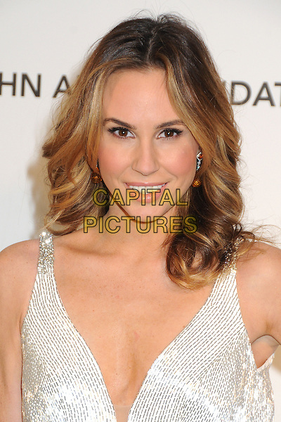 Keltie Colleen.21st Annual Elton John Academy Awards Viewing Party held at West Hollywood Park, West Hollywood, California, USA..February 24th, 2013.oscars headshot portrait white sleeveless sparkly  .CAP/ADM/BP.©Byron Purvis/AdMedia/Capital Pictures.