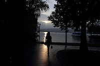 Sunset over West Lake in Hangzhou, one of the most visited tourists sites in China. Zhejiang Province. China. 2010