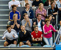 Team Murray watching Andy Murray (GBR) (1) against David Ferrer (ESP) (7) in the Semi-Finals of the men's singles. Andy Murray beat David Ferrer 4-6 7-6 6-1 7-6..International Tennis - Australian Open  -  Melbourne Park - Melbourne - Day 12 - Fri 28th January 2011..© Frey - AMN Images, Level 1, Barry House, 20-22 Worple Road, London, SW19 4DH.Tel - +44 208 947 0100.Email - Mfrey@advantagemedianet.com.Web - www.amnimages.photshelter.com